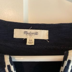 Madewell Tops - Madewell Embroidered Box Stitch Top - XS